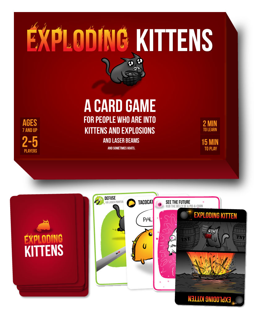 The Card Game For People Who Are Into Kittens Explosions Lasers